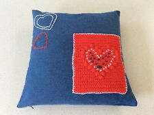 """18/"""" Picasso Inspired Cushion Covers  Abstract Woolen Hand Embroidery 45x45"""