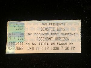 Beastie Boys Chicago Rosemont Horizon Ticket Stub Aug 12 1998