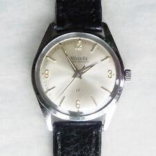 Vintage NIVADA Compensamatic 17 Joya Reloj de viento manual, bien. en Funcionamiento