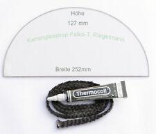 Set passend für BULLERJAN 00 altes Modell   ROBAX®-Kaminglas, 25,2 x 12,7 cm