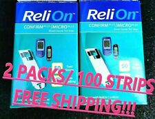 NEW 100 COUNT Relion Confirm Micro Test Strips FREE SHIPPING!!! Exp.JUNE/30/2022