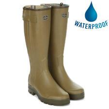 Le Chameau Mens Chasseur Jersey Zip Wellies Wellington Boots Size 7-10.5