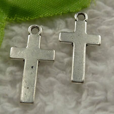 free ship 320 pieces tibet silver cross charms 25x13mm #4078