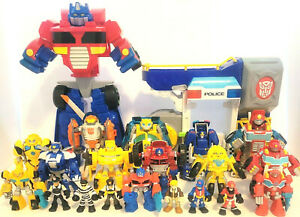 Huge! lot of Transformers RESCUE BOTS  Bumblebee, Optimus, Chase, Blades & MORE!