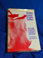 Author Signed Rare 70s Book Adultery & Other Private Matters Swinger Feminist