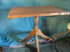 WOOD SIDE TABLE  BRASS CLAW FEET antique vintage END