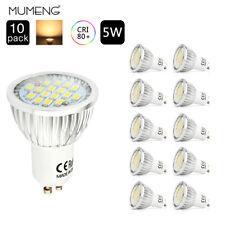 10x GU10 LED Energiespar Lampen 5w Leuchtmittel Spot Strahler Warmweiss