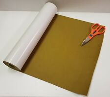 1/2 Mtr x 450mm wide roll of GOLD STICKY BACK SELF ADHESIVE FELT BAIZE