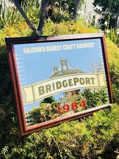 "Bridgeport Oregon's Oldest Craft Brewery Beer Bar Pub Mirror  ""New"" Man Cave"