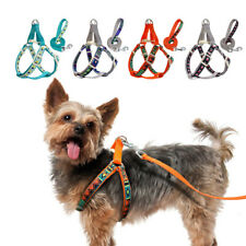 Pet Dog Strap Harness and Leash Adjustable Dog Step In Walking Vest Lead Blue