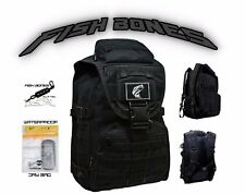 FISH BONE Fisherman Backpack Tackle Box Pack w/ Fishing Tool & H2O Proof Dry Bag