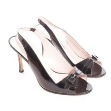 MANOLO BLAHNIK Slingbacks Gr. D 37,5 Schwarz Damen Schuhe High Heels Peeptoes