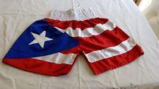 Puerto Rico Boxing Trunks Boxing Shorts Martial Arts Training Fitness Shorts L