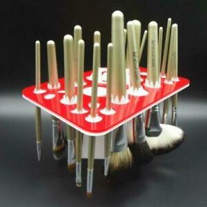 26 Holes Acrylic Makeup Brush Display Holder Cosmetic Storage Stand Organizer UK
