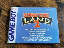 Donkey Kong Land 2 Notice - Instruction Booklet Game Boy NEU6