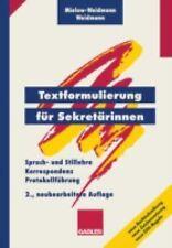 Textformulierung Für Sekretärinnen by Ute Mielow-Weidmann and Paul Weidmann...