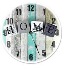 """12"""" HOME CLOCK BLOCK LETTERED CLOCK - Large 12 inch Wall Clock - 2185-12"""
