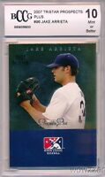 2007 Tristar Prospects Plus #96 Jake Arrieta ROOKIE CUBS BECKETT 10 MINT