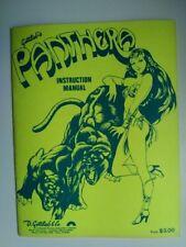 """Original Gottlieb """"Panthera"""" Pinball Machine Instruction Manual"""