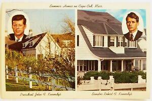 Dual View Kennedy's JFK Robert Summer Homes on Cape Cod Massachusetts Postcard