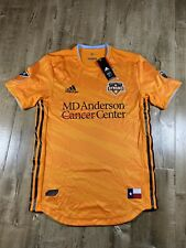 Houston Dynamo MLS Soccer Orange 2019 Climacool DP4828 Home Authentic Jersey