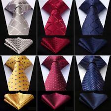 H5014 blue geometric christmas gift ideas silk necktie cufflinks hanky Y/&G