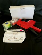 Mx-5500 8 Digits Eos Price Tag Gun - Red in Color + 4 label rolls and 1 roller