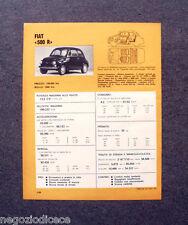 BE26 - Clipping-Ritaglio -1973- MINI SCHEDA TECNICA , FIAT 500 R