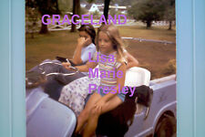 LISA MARIE PRESLEY ELVIS GOLF CART GRACELAND 6/17/77 ORIG VINTAGE PHOTO CANDIDc