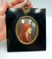 ANTIQUE MINIATURE PORTRAIT OF LADY