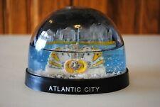 Vtg Snow Dome Globe Souvenir Atlantic City Wheel cards dice Snowdome Snowglobe