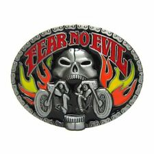BOUCLE DE CEINTURE EAGLE- FEAR NO EVIL-DECO USA / HARLEY /BIKER / SKULL /CHOPPER