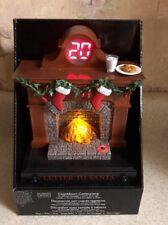 Countdown To Christmas Fireplace Advent Calendar Lighted Musical Santa New