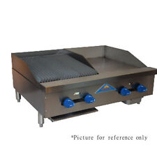 "Comstock Castle FHP36-24-1RB 36"" Gas Griddle/Charbroiler - Iron Radiants"