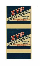 1 Old British North of England Match Hartlepool c1900s matchbox label Zyp.