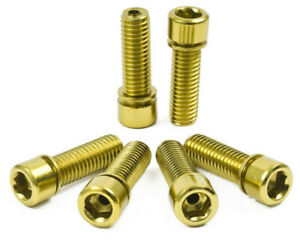 6 x SHADOW CONSPIRACY HOLLOW STEM BOLTS 8 x 1.25mm BMX BIKE SUBROSA RANT GOLD