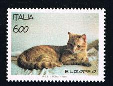 ITALIA FRANCOBOLLO ANIMALI GATTO RAZZA EUROPEA 1993 nuovo**