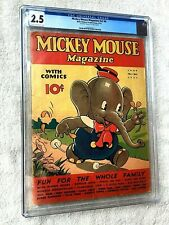 Mickey Mouse Magazine V2 #9 CGC 2.5 Platinum Walt Disney 1937 and FREE Reader