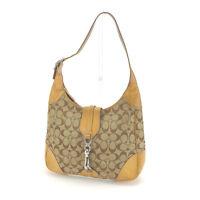 Auth COACH Shoulder Bag Signature Womens Used C1904