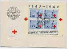 Schweizer Briefmarken mit Ersttagsbrief-Erhaltungszustand