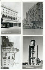 VINTAGE OLD BLACK & WHITE POSTCARD X 4 - TASMANIA HOTELS & WAR MEMORIAL