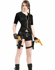 LARA CROFT STYLE THIGH HOLSTER TWIN GUN SET GUN BELT LEG STRAP NEW