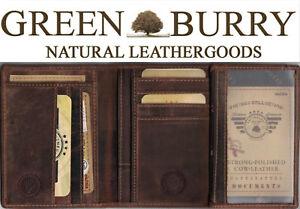 Greenburry Vintage Ausweisetui Ausweismappe Leder braun Brieftasche*!bestprice!*