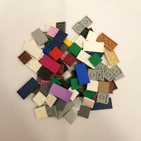 Lego lot 100 2x2 / 2x4 Mixed Smooth Tiles Bundle 3068b Multicoloured Joblot