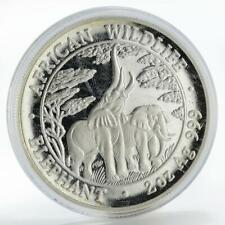 Zambia 10000 kwacha African Wildlife Elephant proof silver coin 2003