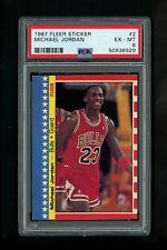 1987 Michael Jordan Fleer Sticker basketball card PSA 6 EX-MT #2 Chicago Bulls