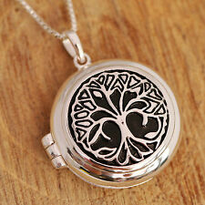 Sterling Silver No Stone Flowers Plants Chain Fine Necklaces & Pendants