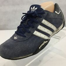 Vtg Adidas Adi Racer Goodyear Driving Shoes Sz 5 Blue Leather Trefoil 3 Stripes