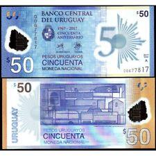 URUGUAY  50 Pesos 2017 ( 2018 ) Polymer Commemorative UNC P 100