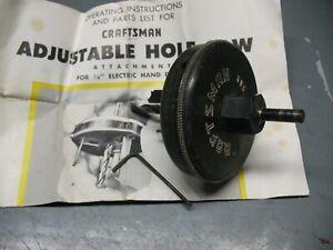 CRAFTSMAN  HOLE  SAW  ATTACHMENT MODEL 605 - 25660  CAT. No. 2566  ORIGINAL BOX